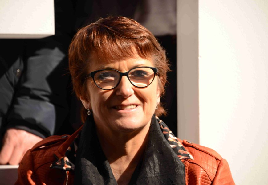 Christiane Lambert dans le Barrois le 11 février