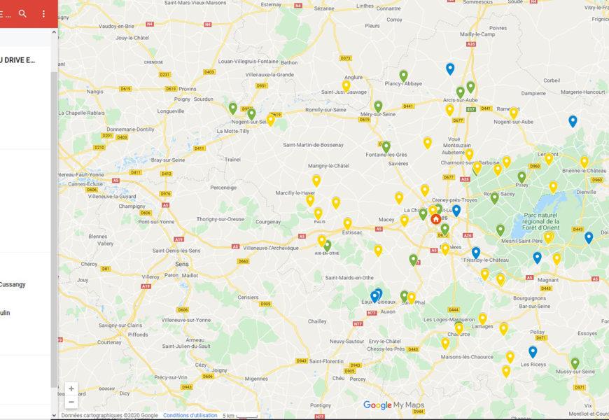 Une carte pour géolocaliser les producteurs aubois